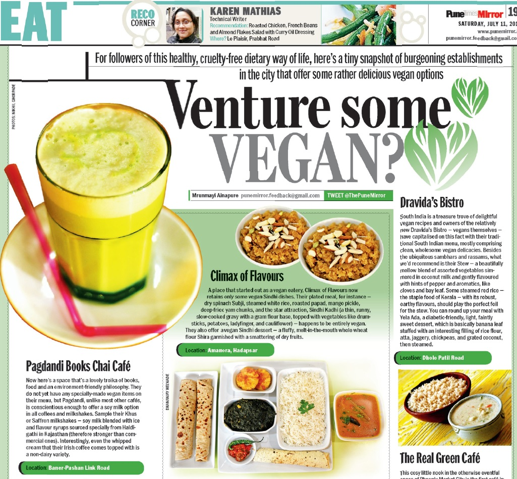 Vegan options at Pagdandi in Pune Mirror