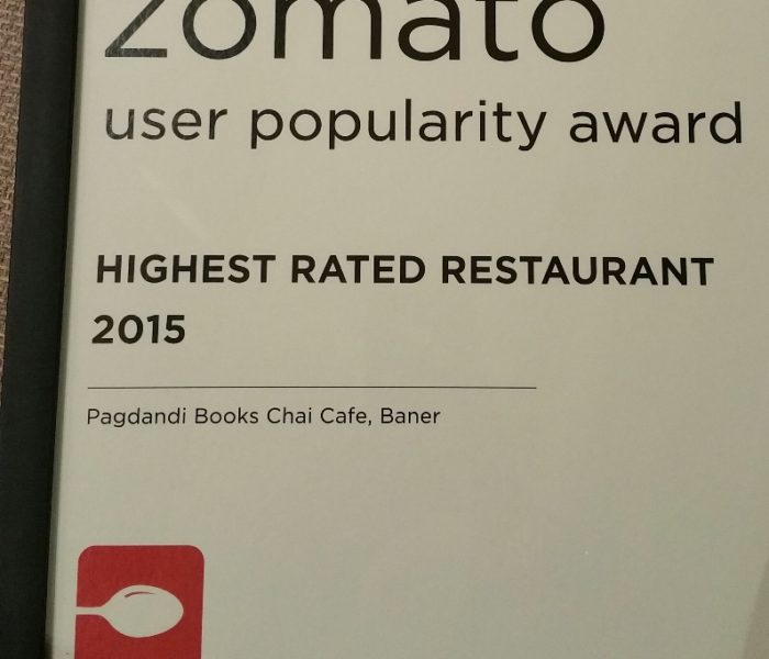 Zomato Highest Rated Restaurant Award