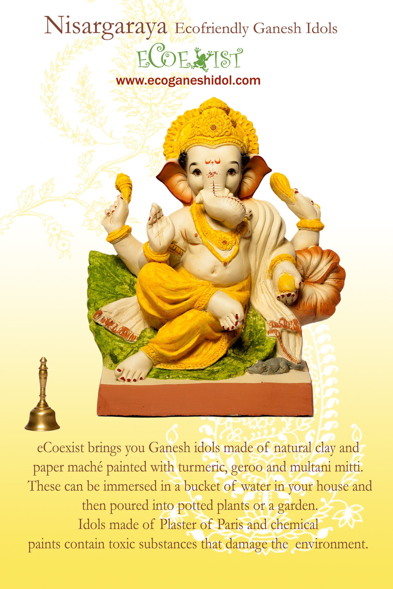 Ecofriendly Clay Ganesh Idol by ecoexist