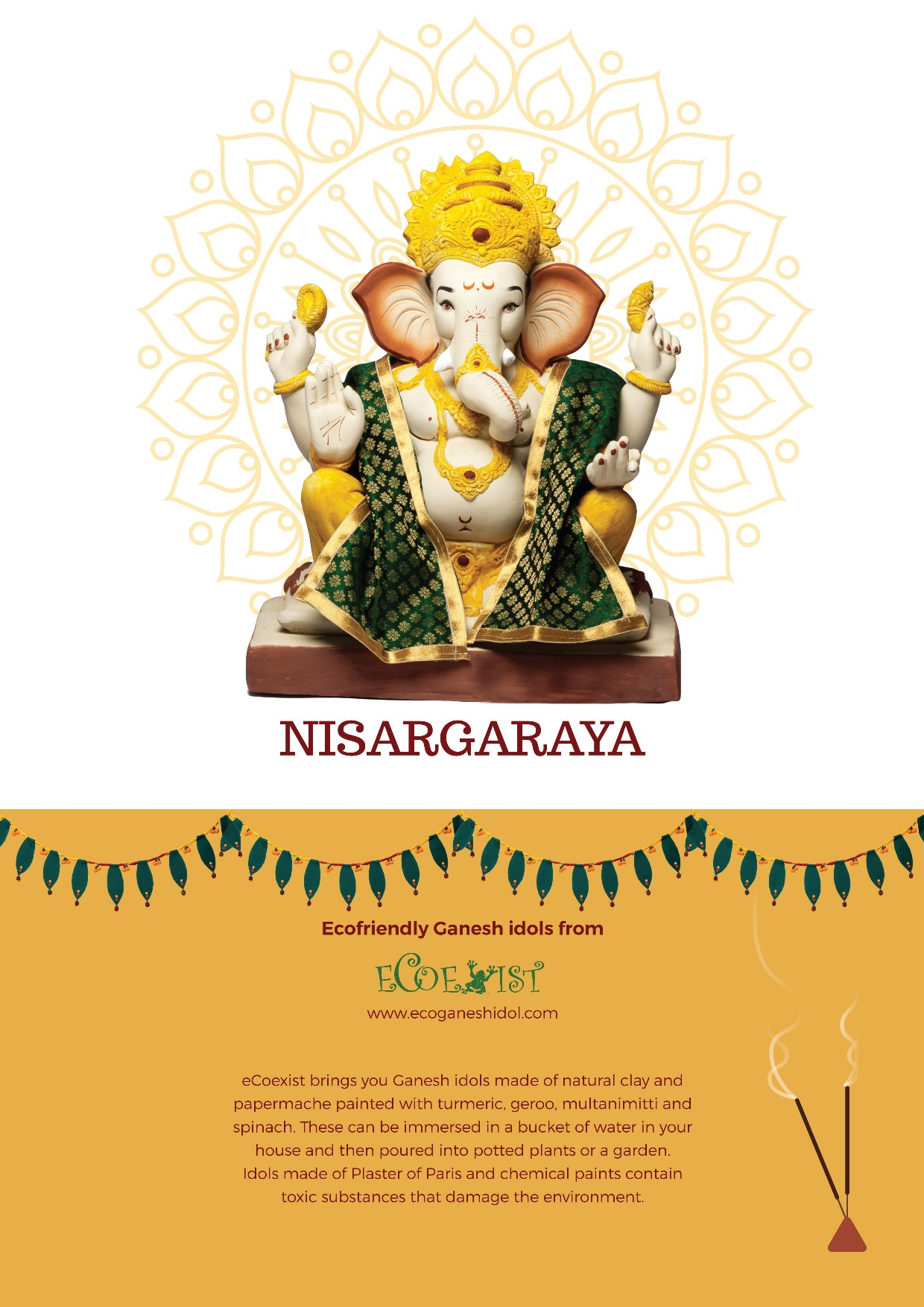 """Nisargaraya"" – Ecofriendly Ganesh idols from eCoexist – 2017"